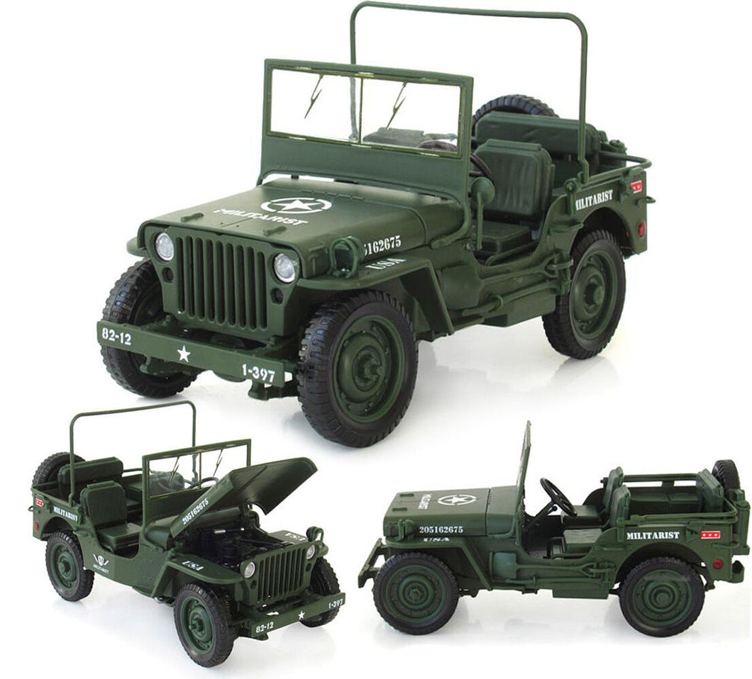 1:18 Diecast Army Force Jeep
