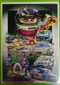 "Craig Lowndes 100 Wins ""Peoples Champion"" A3 Poster"