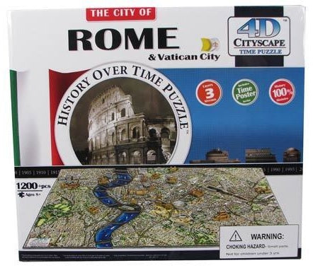 4D CITYSCAPE TIME PUZZLE ROME & VATICAN CITY 1200+ pieces