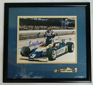 Bobby Unser Frame Autograph 8