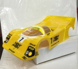 1:10 Porsche Body Shell - Yellow