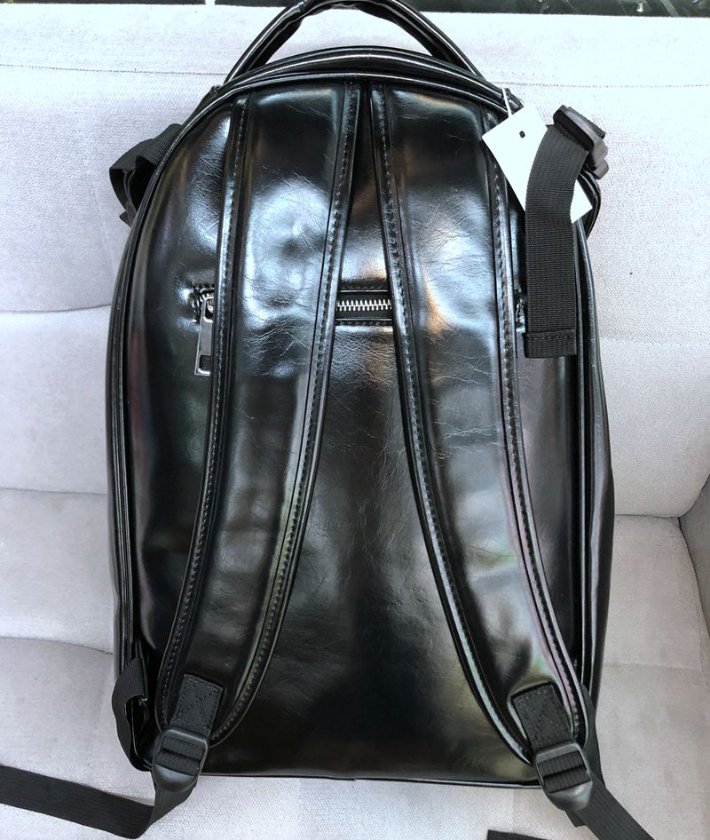 Unisex Leather Skull Backpack