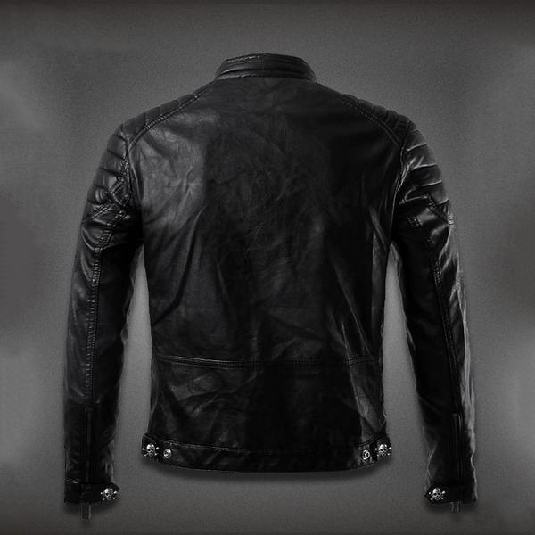 Men's Skull Leather Jacket