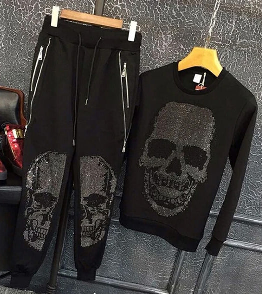 Two-Piece Skull Casual Jumpsuit