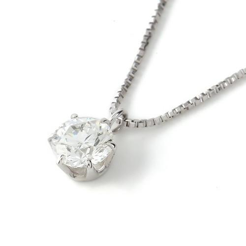 0.2ct Diamond K18 Bezel Necklace