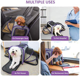 Carrier Airline Approved, Expandable Foldable Soft-Sided Dog Carrier