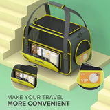 OKMEE Soft Pet Carrier for Small Medium Cats Dogs Puppies, Cat Carrier with Big Space, 5 Mesh Windows, 3 Doors, Airline Approved, Escape-Proof, Breathable, Leak-Proof, Easy Storage