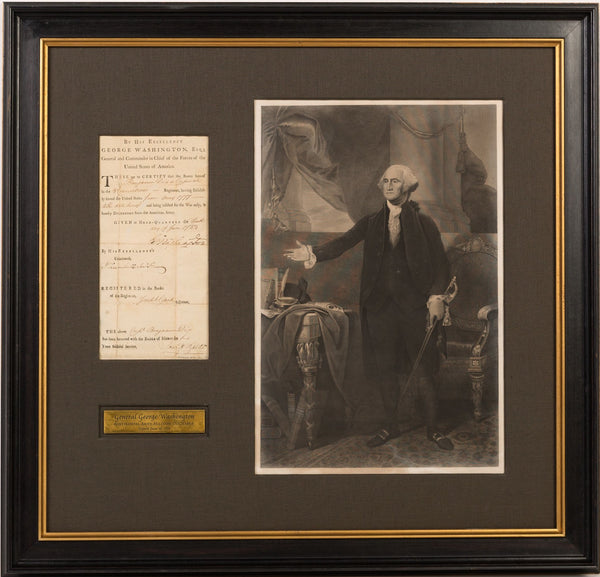 New Arrival! George Washington Signed Discharge Document