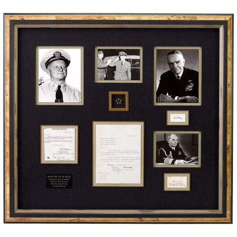 Navy Five Star Admirals Signature Collage - The Great Republic