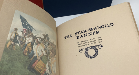 """Star-Spangled Banner"" Title detail in ""Songs we Love"" First Edition, 1912"