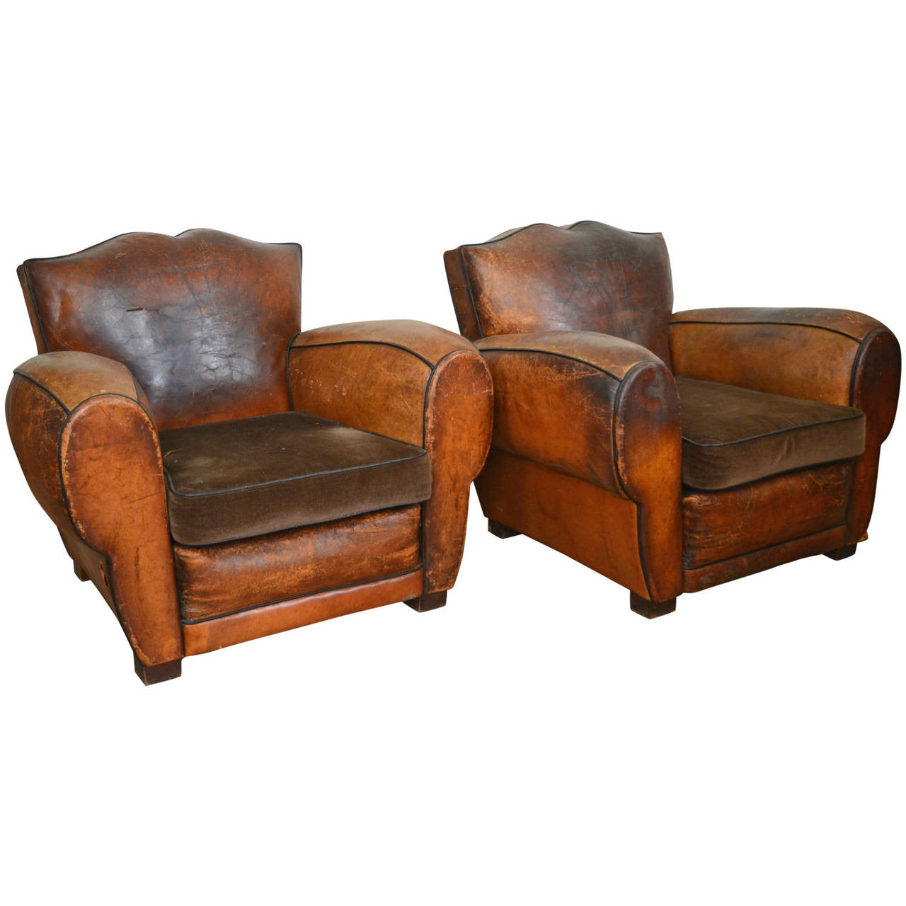 Delicieux Mustache Back French Club Chairs   Matched Set Of Two, Circa 1920 30   The  Great Republic