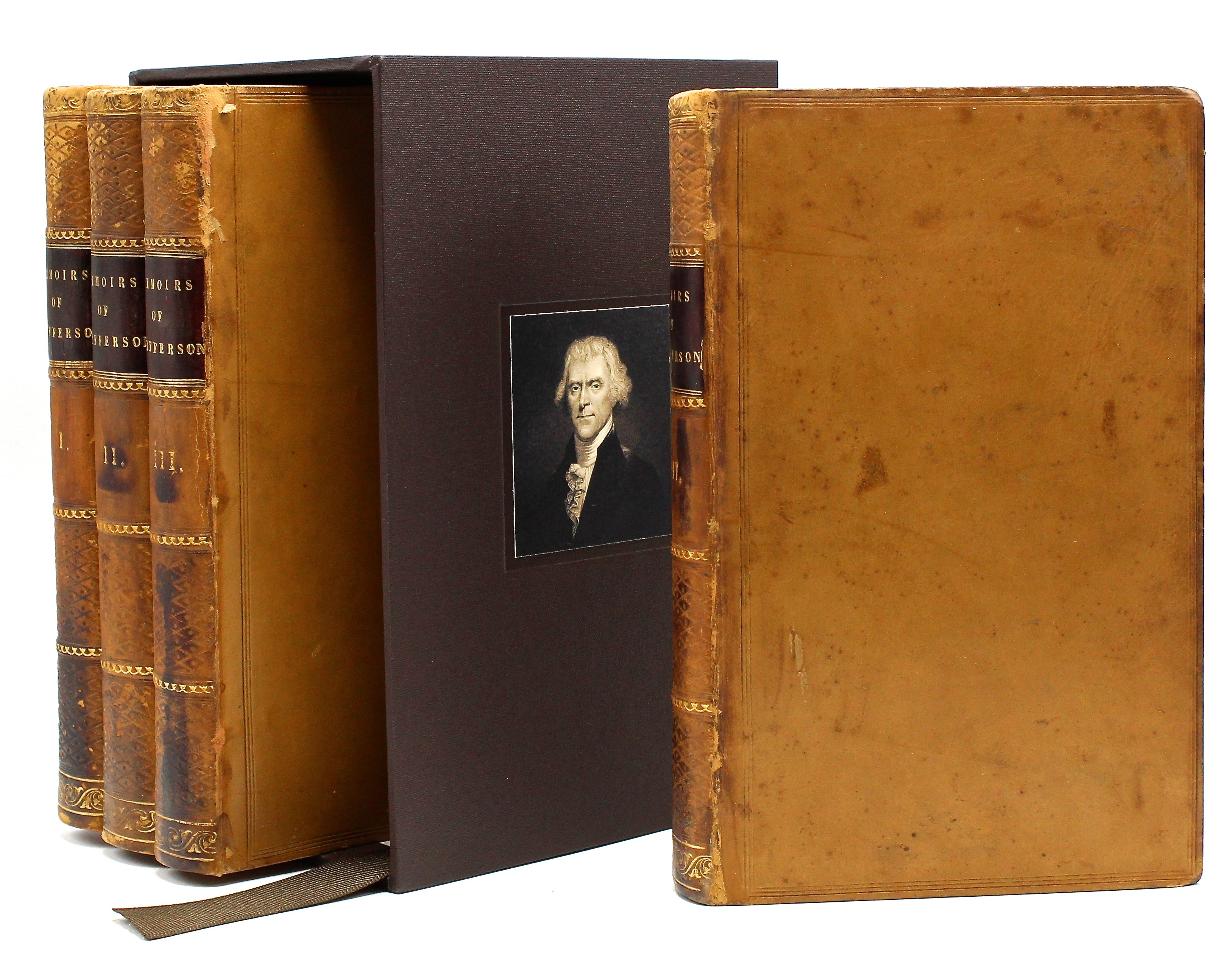 Memoirs, Correspondence, and Private Papers of Thomas Jefferson, Late President of the United States, Edited by Thomas Jefferson Randolph, Four Volume Set, 1829