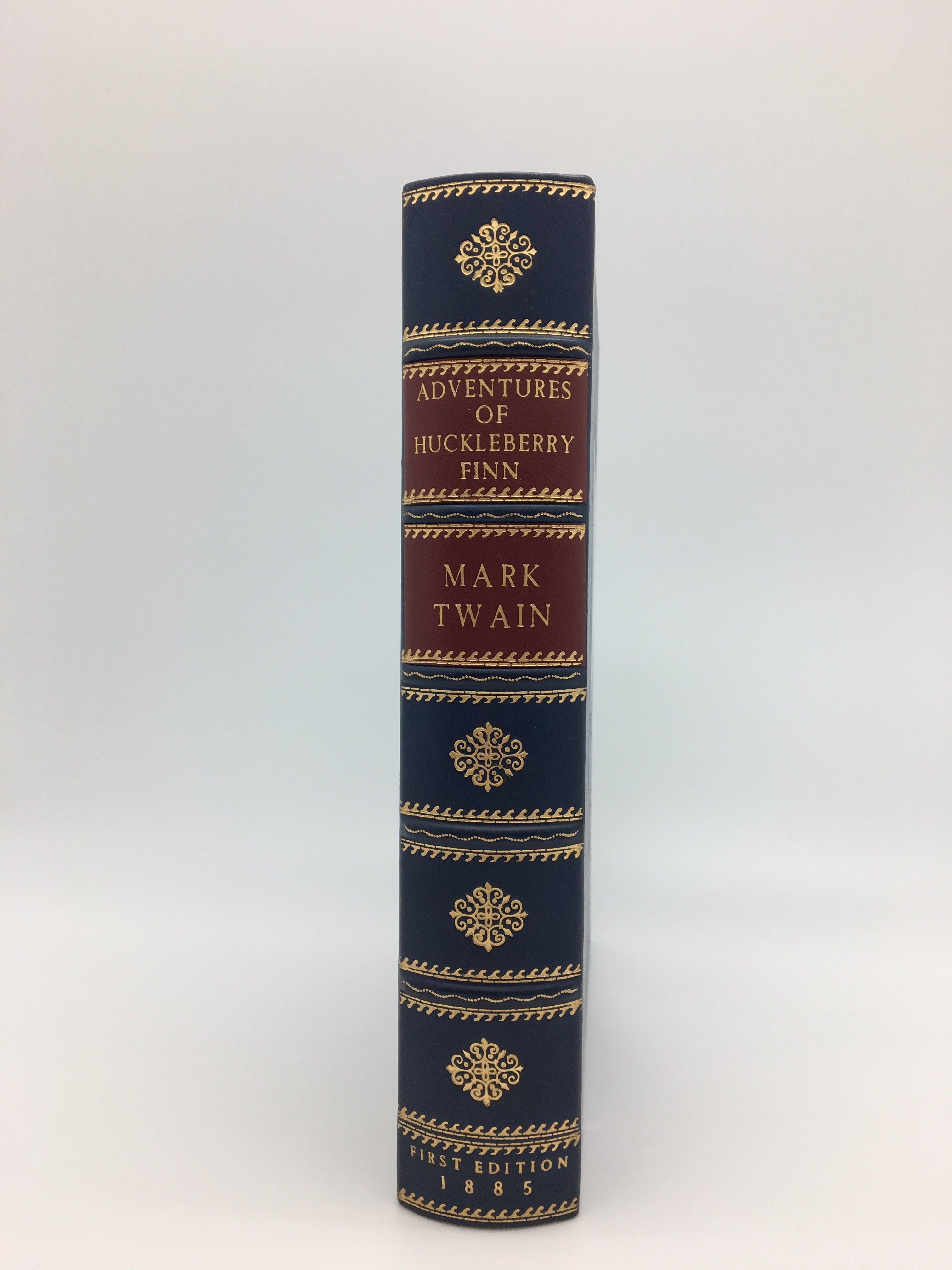 Adventures of Huckleberry Finn by Mark Twain, First Edition, First Printing in Rare Original Blue Cloth Binding, 1885