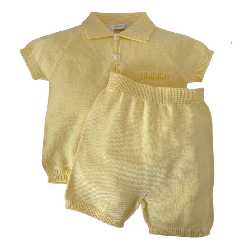 Wedoble - Polo Romper - Yellow