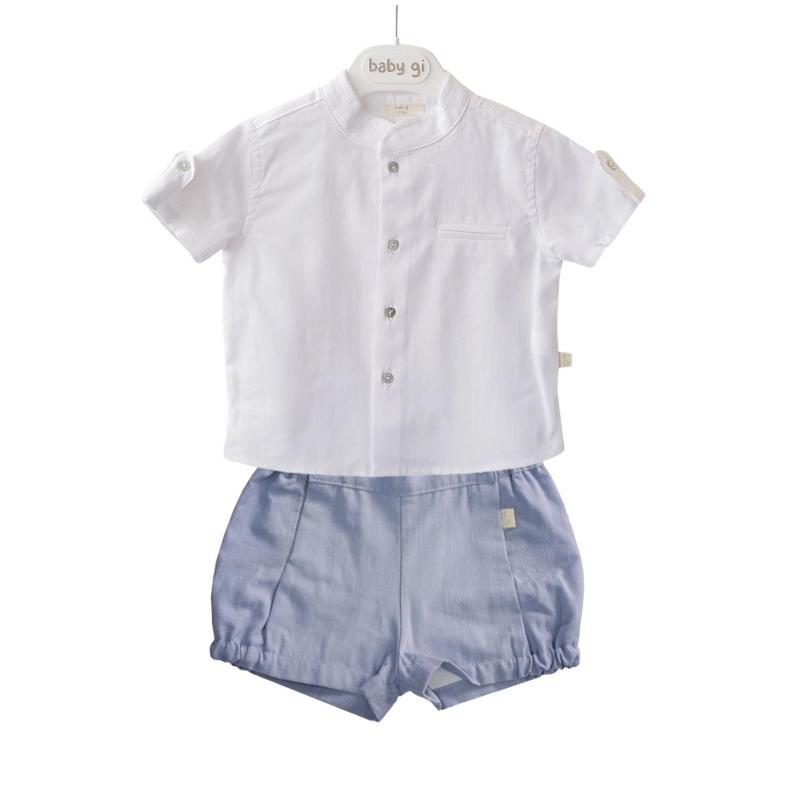 Baby Gi - Shirt & Blue Shorts Set