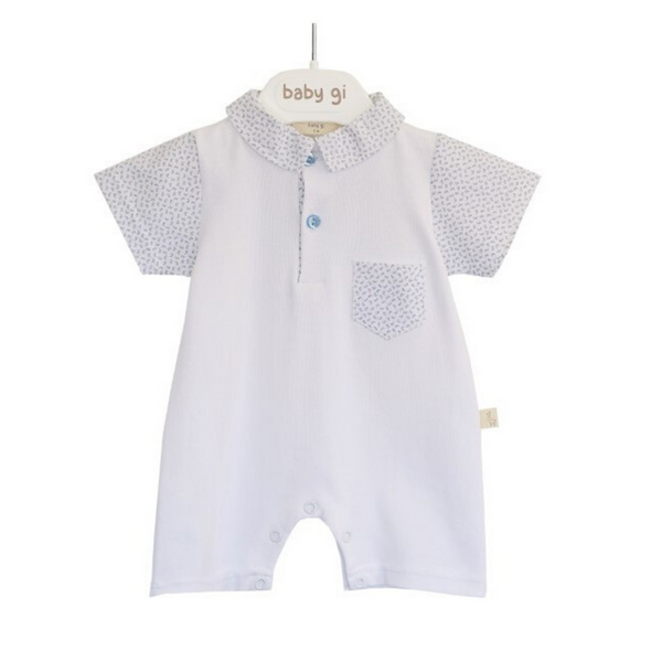 Baby Gi - White & Blue Shortie