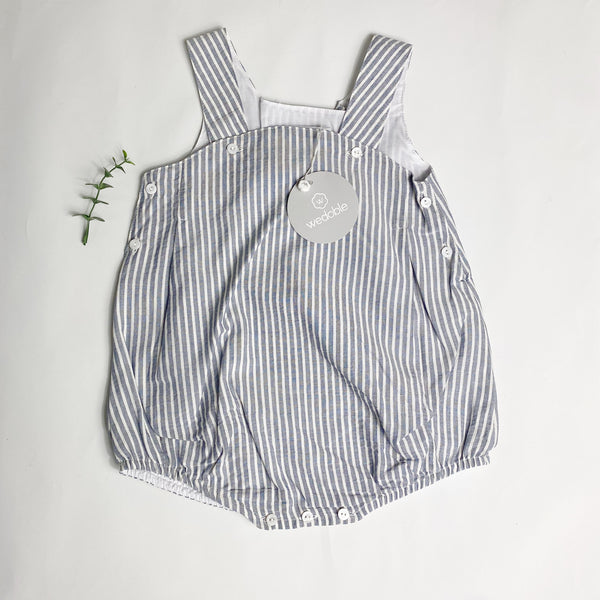 Wedoble - Navy Striped Romper