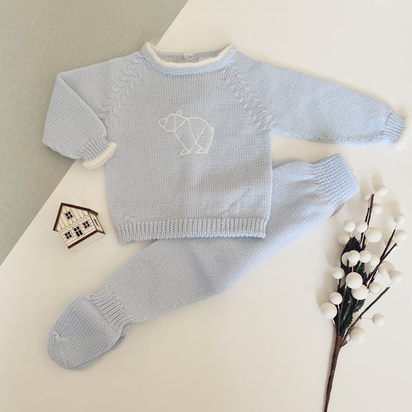 Wedoble - Baby Blue Polar Bear Outfit