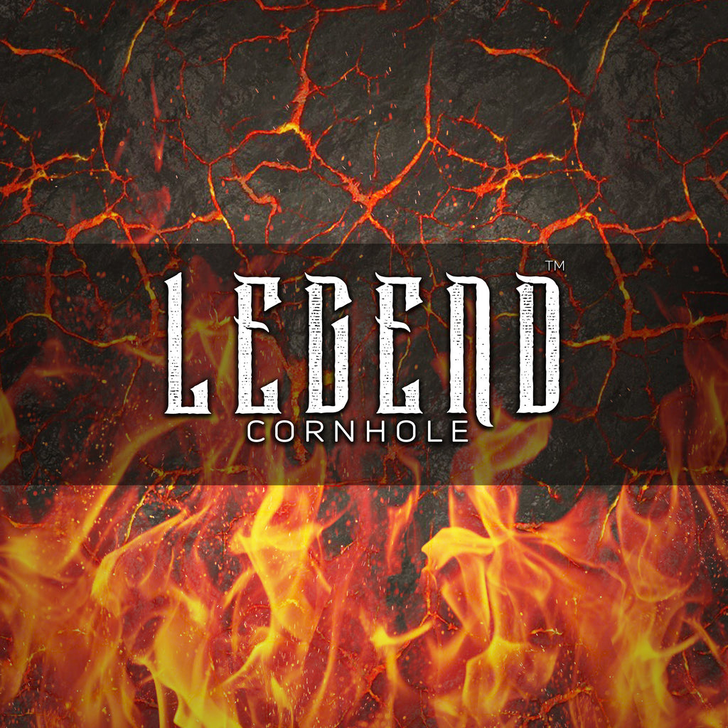 "**Pre-Order** Legend™ ""ALL IN™"" Premium Cornhole Bag (set of 4) fire (Estimated shipping middle of Oct 2020)"