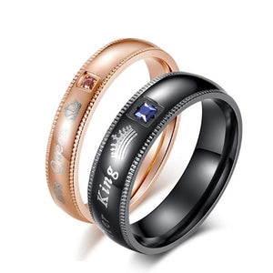 Trendy couple rings-Couple Jewellery