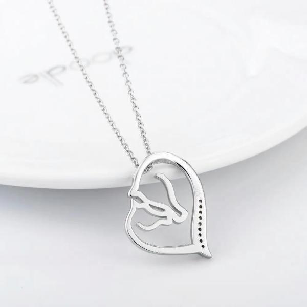 Heart horse pendant necklace-Couple Jewellery