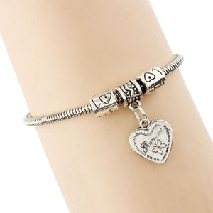 Butterfly Heart Grandma Bracelet-Couple Jewellery