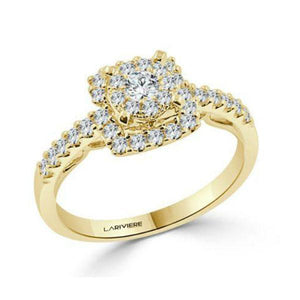 Delicate pave diamond engagement ring-Couple Jewellery