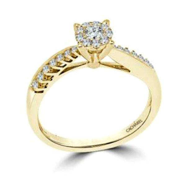 Diamond Bar setting yellow gold ring-Couple Jewellery