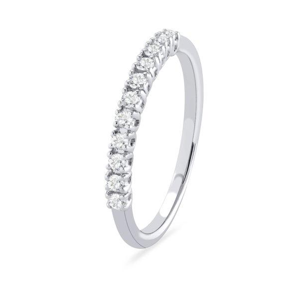 Diamond eternity band gold engagement ring-Couple Jewellery