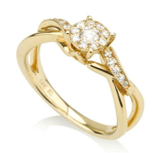 Yellow and white Gold Engagement Ring-Couple Jewellery