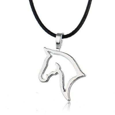 Heart shaped horse necklace-Couple Jewellery