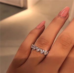 Wedding heart promise ring-Couple Jewellery
