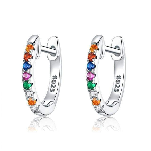 925 Sterling silver Circle hoop earrings