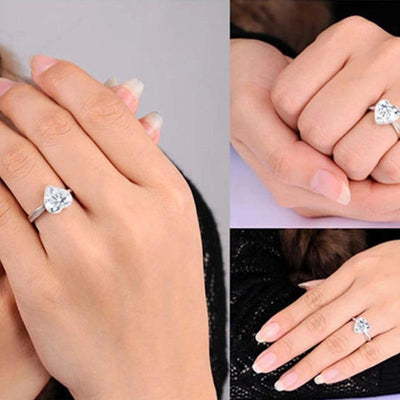 Wedding heart style rings-Couple Jewellery