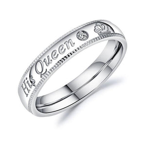 Custom Engrave Couple Rings-Couple Jewellery