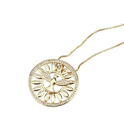 Golden dove necklace-Couple Jewellery