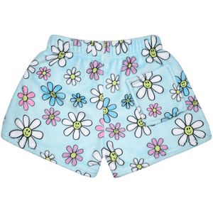 Daises plush pajama shorts