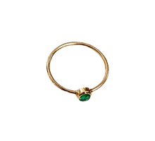 Load image into Gallery viewer, Pre Order/ Single Stone Emerald Ring