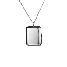 Load image into Gallery viewer, Silver Solid Perfume Necklace