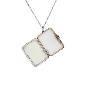 Silver Solid Perfume Necklace