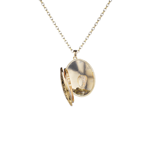 Load image into Gallery viewer, Gold Enchanted Millgrain Locket