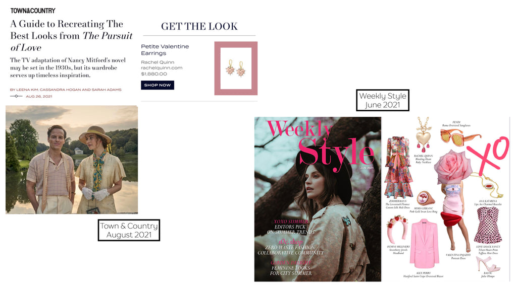 Town and Country Get the Look Heart Heart Earrings