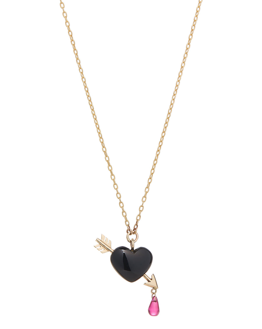Onyx Cupid's Arrow Necklace Small