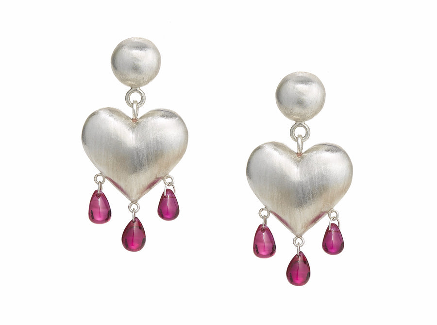 Bleeding Heart Earrings Medium