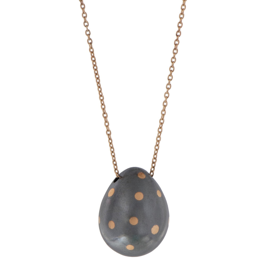 Freckled Egg Necklace