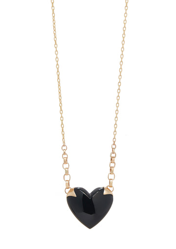 Shackled Onyx Heart Necklace
