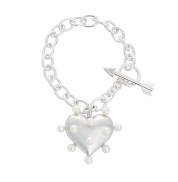 Pin Cushion Heart Bracelet