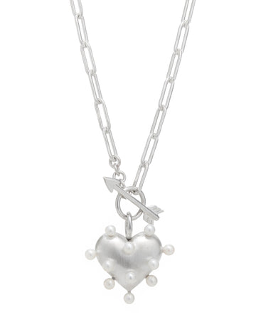 Pin Cushion Heart Necklace