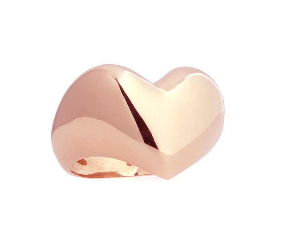 Puffed Rose Gold Heart Ring