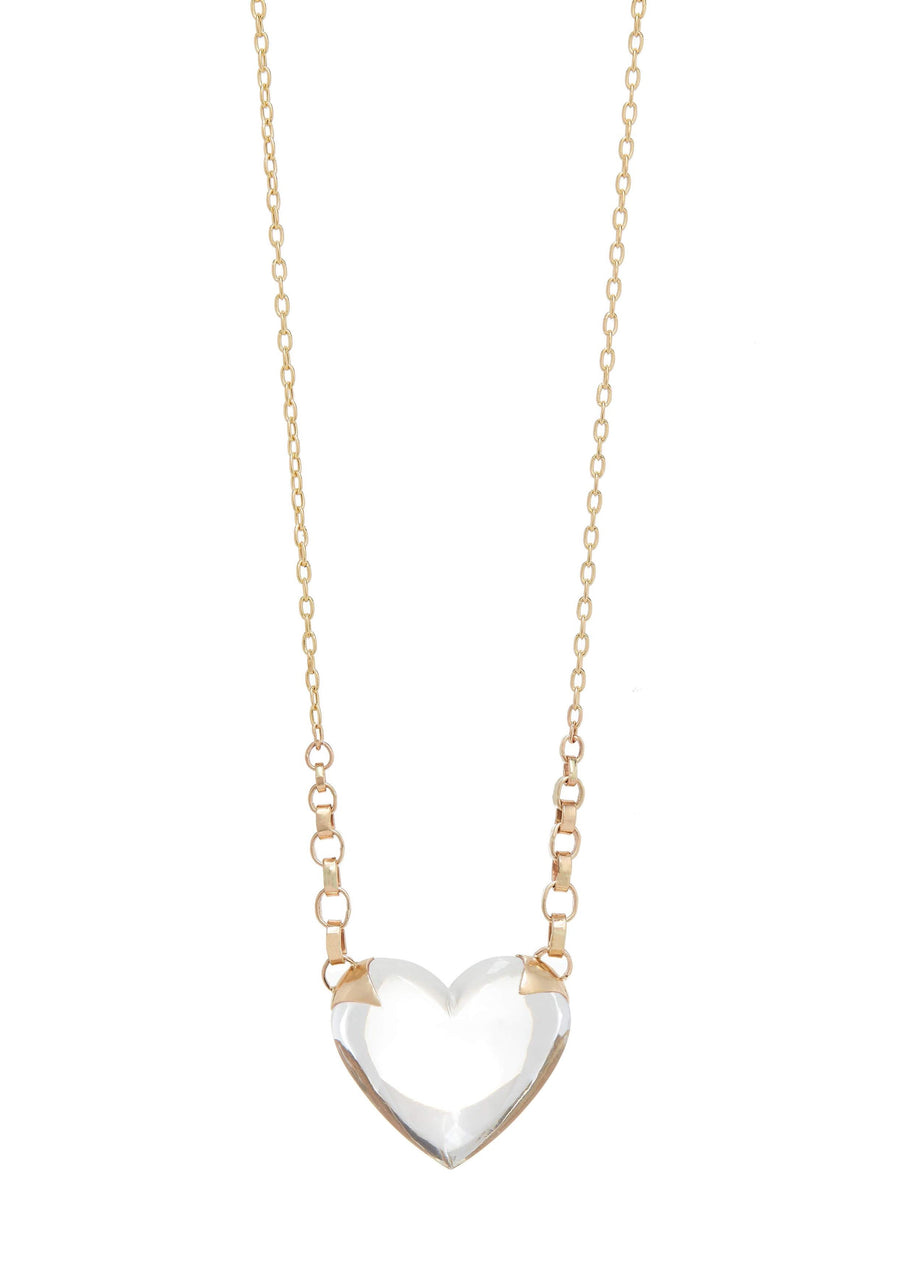 Shackled Quartz Heart Necklace